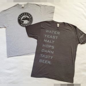 2 Deschutes Brewery Tshirts XL